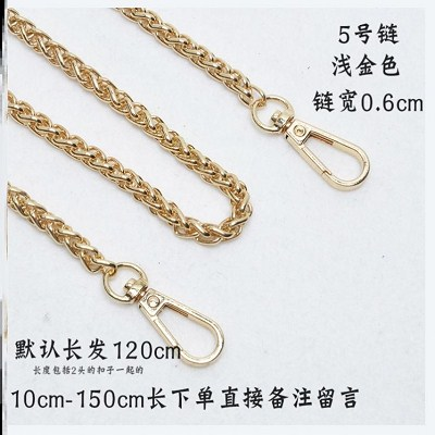 New style backpack chain fashion shoulder belt chain metal bag bag chain single purchase adjustable stainless steel chain belt Crossbody
