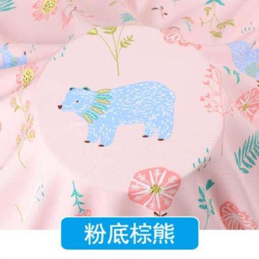 短袖棉绸图案布料时尚宝宝舒适绵绸卡通花朵人造面料花布花型短裤