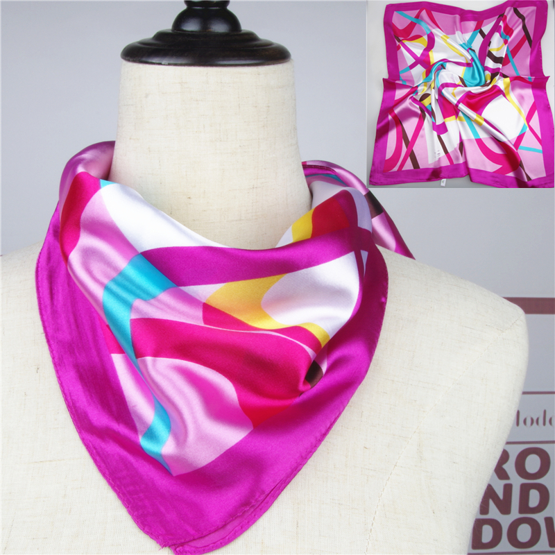 Chinese car crew, business fashion decoration, womens industry, silk and satin, free ride, bank stewardess, small square scarf and silk scarf purchased by Japan