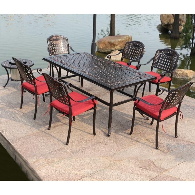 户外桌椅住宅家具庭院花家具室外3阳台铸铁桌椅室外休闲铁艺桌椅