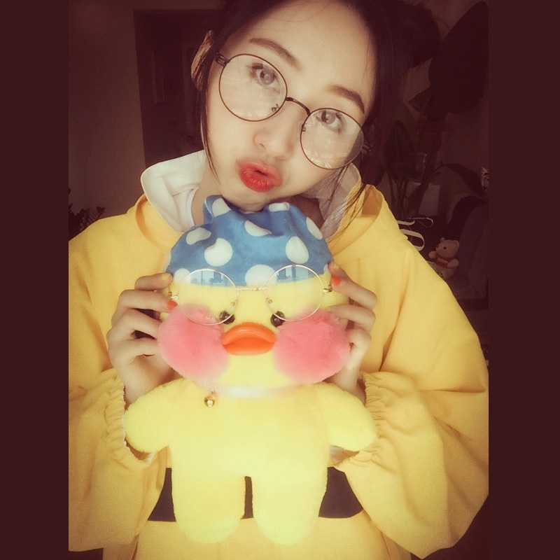 Ins net Red duck 30cm hyaluronic acid duck plush toy doll girl heart little yellow duck clothes accessories [April