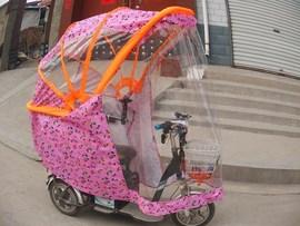 8年新款折叠三轮车车棚遮阳棚雨篷三轮车篷人力三轮车棚雨棚限
