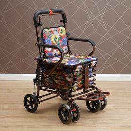 可坐折叠买菜助步老年人座椅购物车四轮代步小推车老人家用手推图片