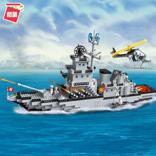 積木112巡洋戰艦航空母艦兼容樂高軍事系列拼裝拼插玩具禮物