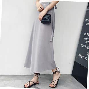 一塊布式裙子 復古大碼片羣裙 一片式裙子繫帶下半身裙200斤 胖。