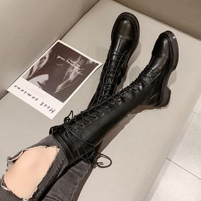 女生2020新款秋冬季加绒高筒长筒靴