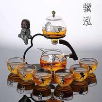 玻璃红茶懒人功夫茶具套装简约创意耐热透明半全自动冲泡茶器家用