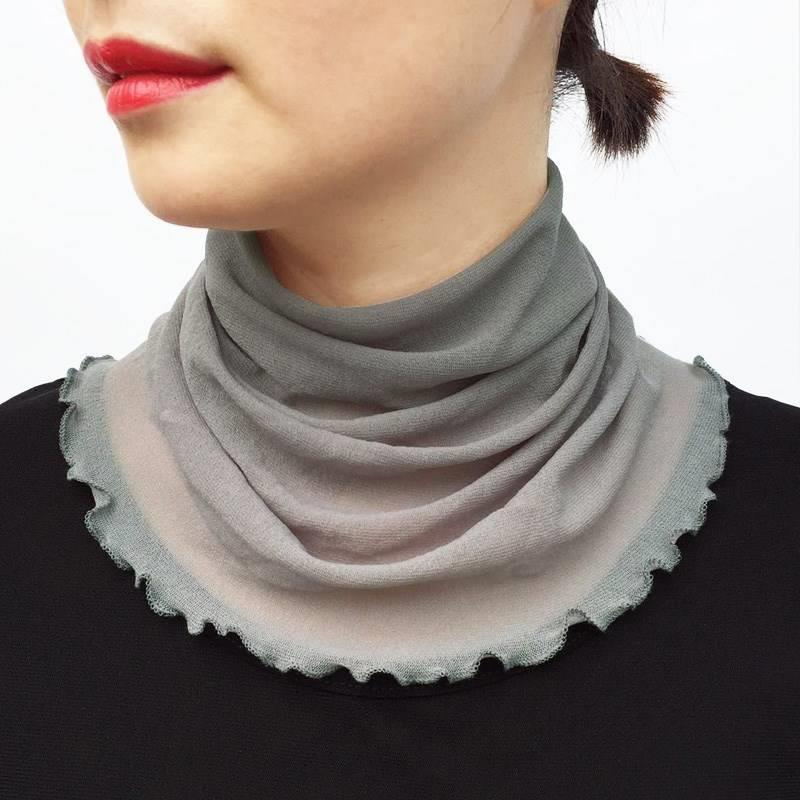 Fresh autumn womens scarf short striped scarf thin literature and art leisure Scarf Collar black hot selling
