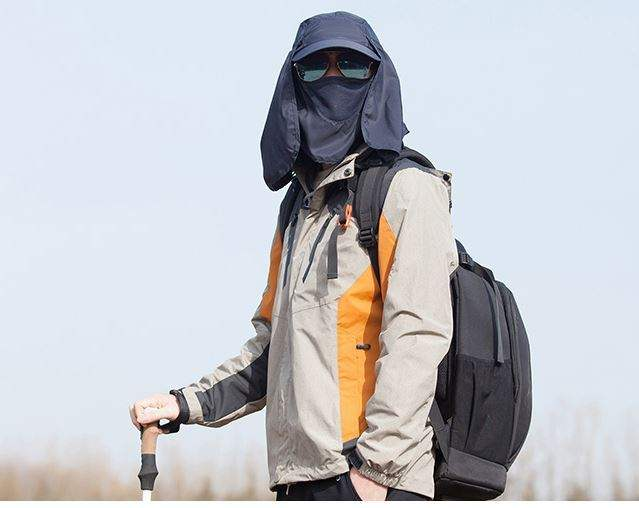 Fishing helmet male vegetable leaf dust cap button workshop female head carrying Cape arc brim hat