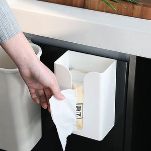 免打孔挂壁式多功能纸巾盒