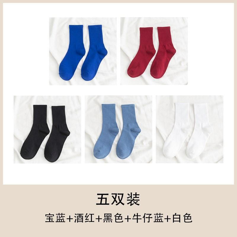 爱潮流滑雪高筒袜堆堆新袜子女潮街头搞笑可袜冬出口秋冬中筒纯色