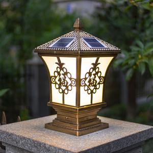 太阳能柱头灯户外防水围墙灯门柱灯院墙灯花园别墅庭院灯大门柱灯