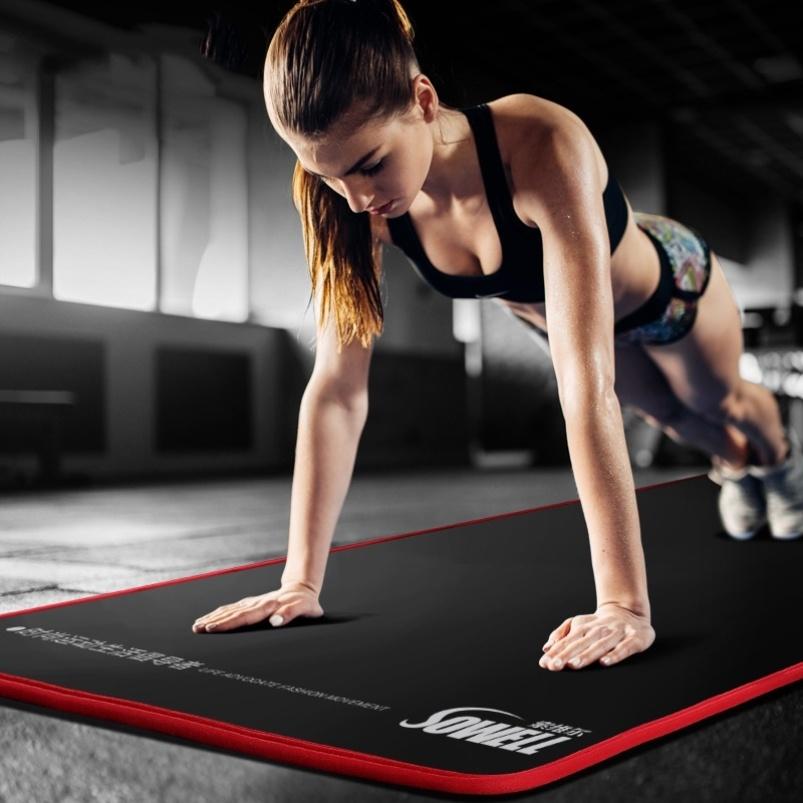 男士健身垫初学者瑜伽垫子加厚加宽加长防滑运动瑜珈地垫家用图片