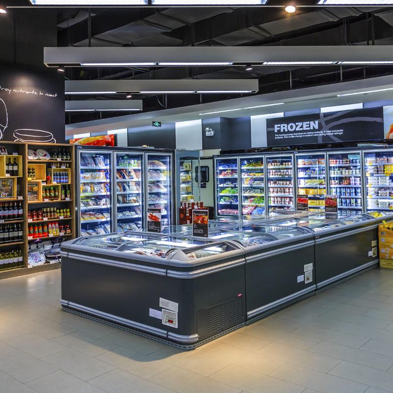 岛柜卧式商用超市组合冷冻低温商超大容量冰柜雪糕冰淇淋冰箱无霜