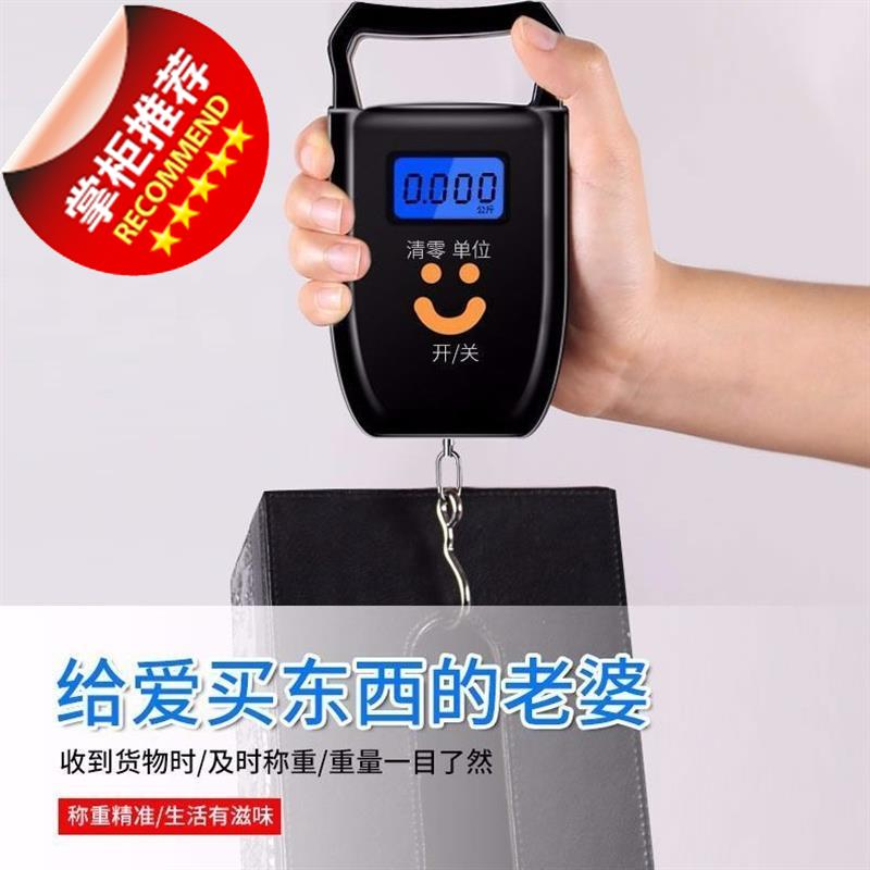 Portable scale portable vegetable shopping high precision 8 family commercial small scale luggage scale spring electronic scale market