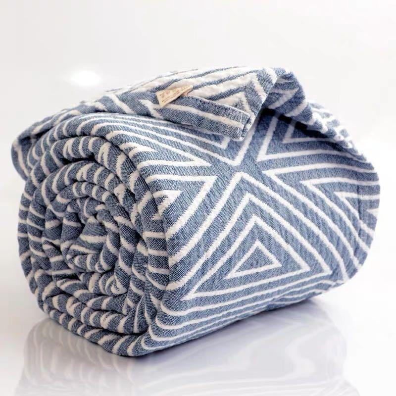 水洗棉纱布盖毯 空调刘大姐家 日式北欧成被 沙发巾