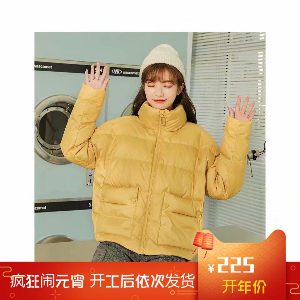 拉夏7m官网2019冬新款韩版短款加厚面包服羽绒服学生外套女709D80