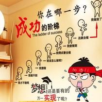 男孩励志贴纸卧室儿童房间装饰教室班级布置文化墙贴画自粘小学生