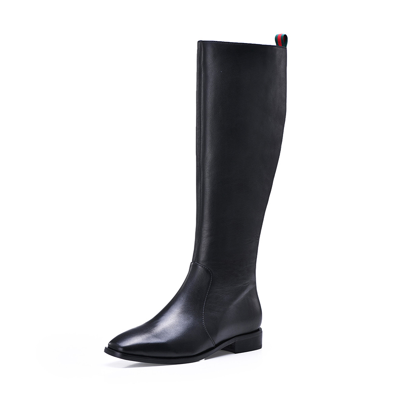 Jer Harlow workplace womens shoes autumn winter black high top knee high boots female Knight boots j04ch18250ra