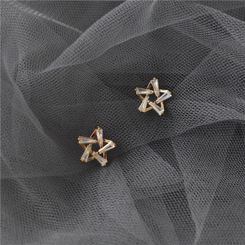 Star Korean new network red temperament Earrings elegant personality Earrings pentastar temperament Earrings Fashion in 2020