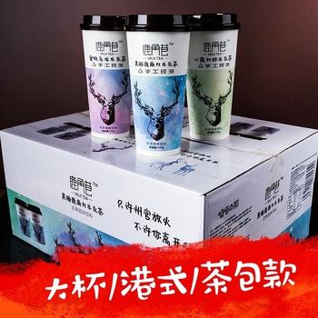 鹿角巷奶茶20杯装一整箱速溶奶茶粉原味黑糖味港式网红牛乳茶饮料