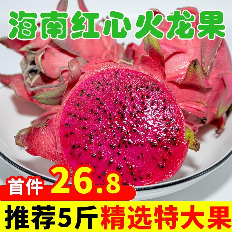 海南红心金都一号蜜宝5斤火龙果