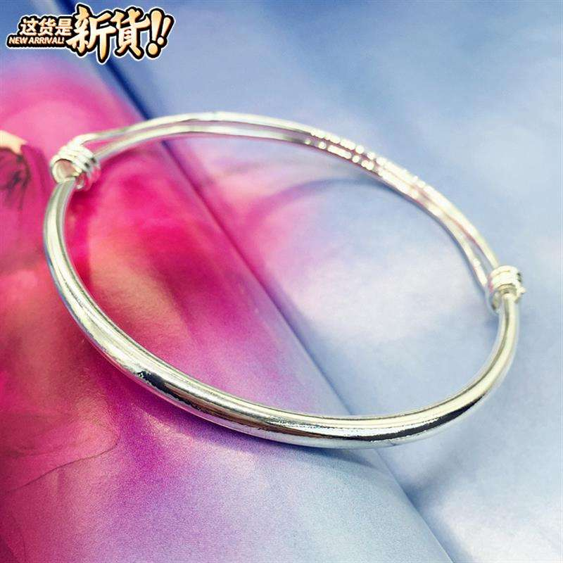 New f product Korean small bell Bracelet Silver Fashion Chain girls smooth face simple versatile temperament foot ring