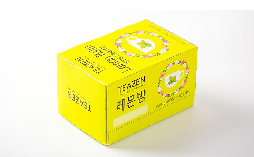 秋韩国teazen有机农柠檬香草茶凝神静气独立包Lemon Balm 20袋