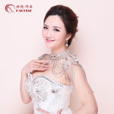High grade accessories bridal jewelry Bridal Necklace shoulder chain wedding jewelry photo Jewelry Wedding Dress Air Diamond