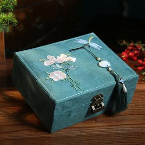 索奢首饰盒收纳盒古风多功能大容量珠宝饰品盒耳环戒指项链整理盒