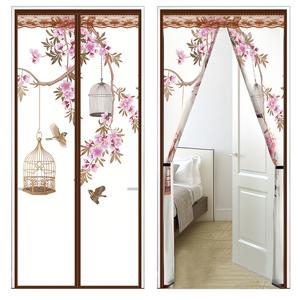 空调门帘挡风家用卧室隔断帘厨房防油烟冷气磁铁自吸遮挡塑料帘子