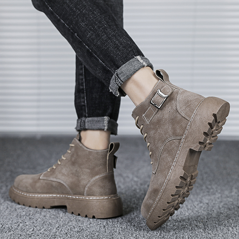 Couple Martin boots cl878 high top retro work wear boots Martin jeans casual mens shoes 39-44
