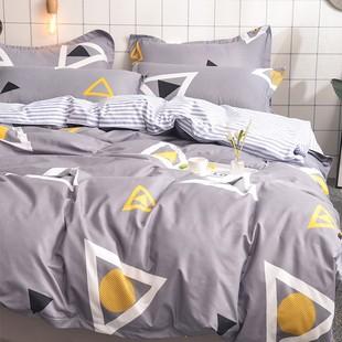 中国套18m15米床单人网称心如意家纺网店床上用品四件套全棉纯棉