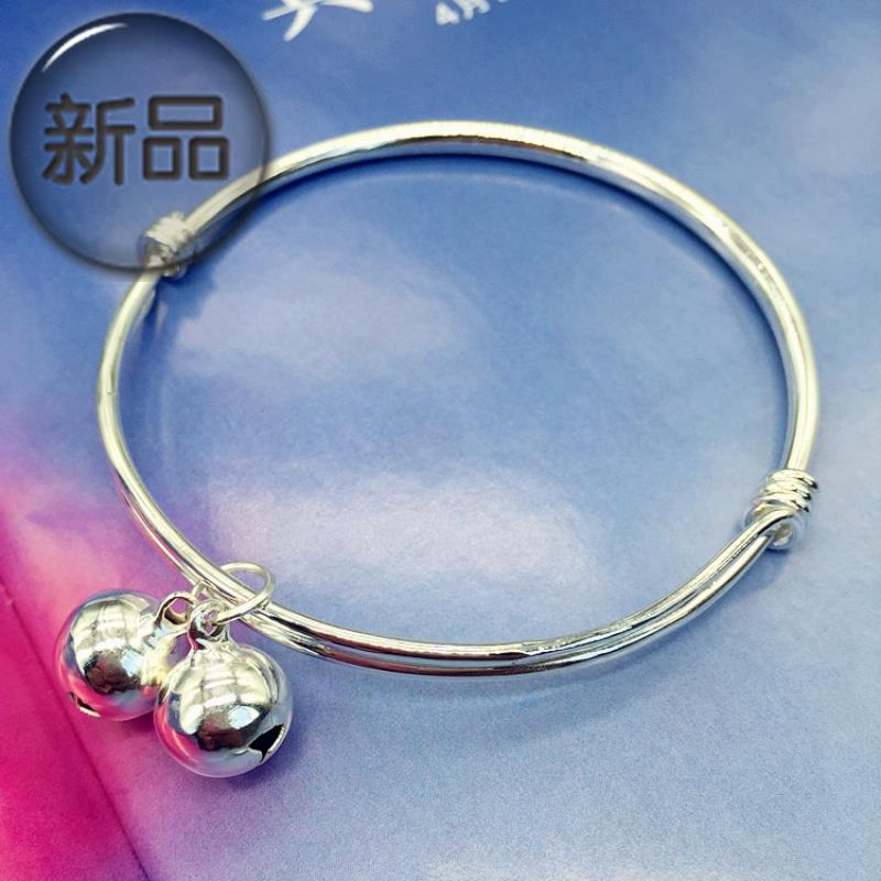 New Korean version 22 small fresh bell Bracelet Silver Fashion Chain girl smooth face simple versatile temperament foot
