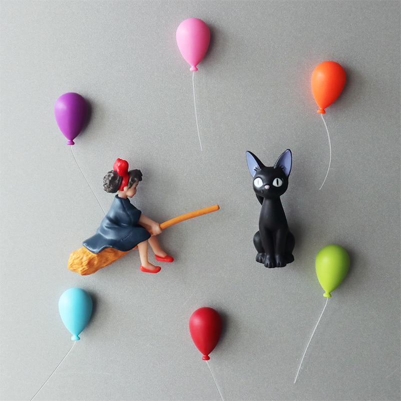 Little witchs house emergency Qiqi 3D refrigerator paste magnetic decoration paste cartoon animation Hayao Miyazaki household accessories