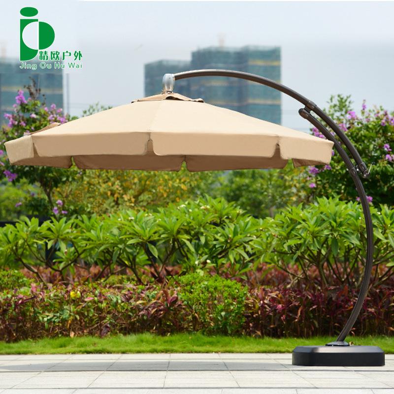 精欧户外 庭院花园露天大型折叠遮阳伞3米 室外防雨罗马太阳吊伞
