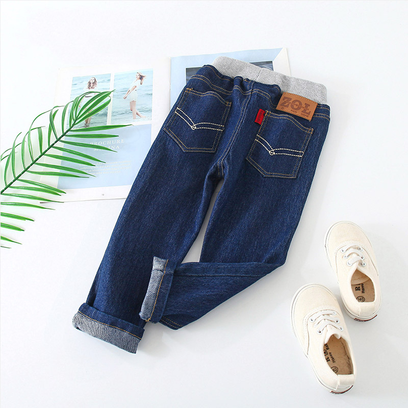 Shell family jeans 2021 spring new boys long pants for childrens leisure