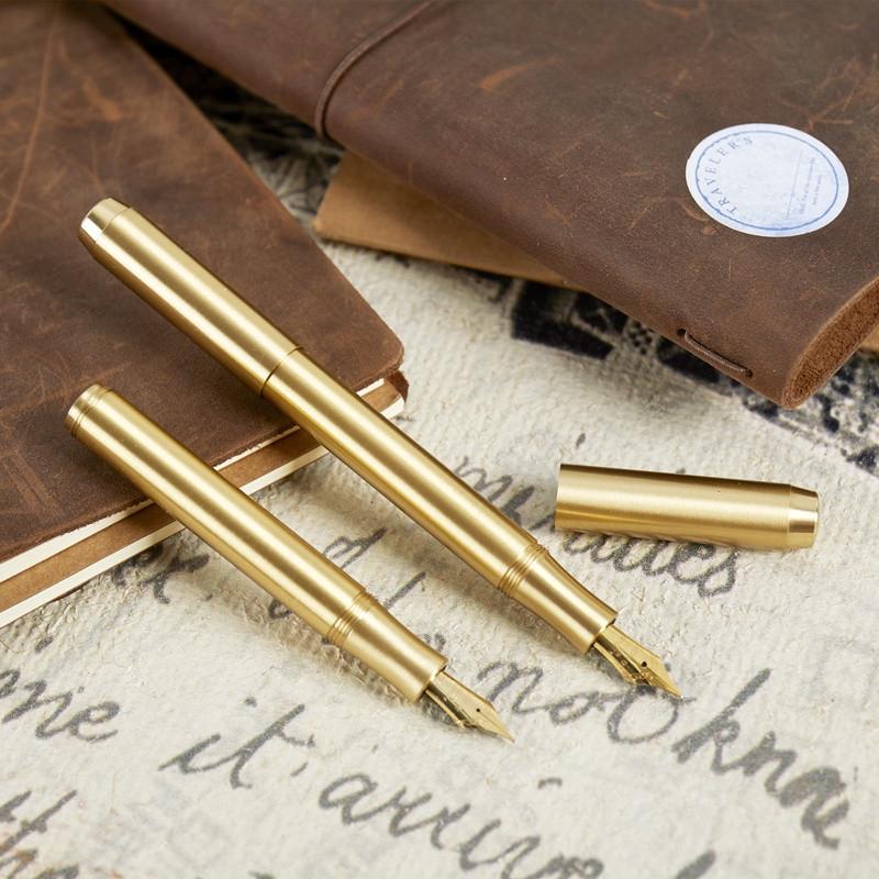 高級な他のペンTN黄銅携帯万年筆金属土豪金手帳万年筆復古日系弁