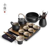 小茶具套装功夫茶杯家用日式简约客厅办公室陶瓷泡茶壶茶盘托盘