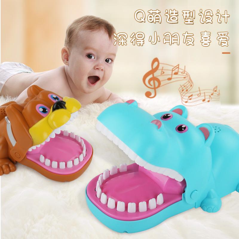 H079大号咬手鳄鱼鲨鱼整蛊拔牙游戏抖音同款减压亲子互动玩具q