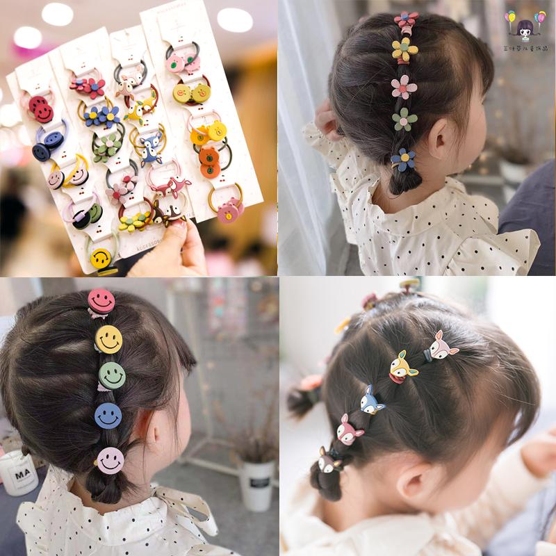 儿童头绳韩版女孩扎头带可爱宝宝皮筋花朵小发圈不伤头发女童头饰
