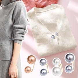 可爱日系珍珠胸针少女百搭简约防走光扣领口固定开衫毛衣别针扣