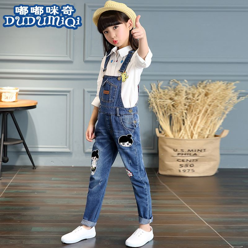 Autumn clothes 110, height about 120, 130cm, girls 140, conjoined warehouse 150, children wear bag suspenders Z