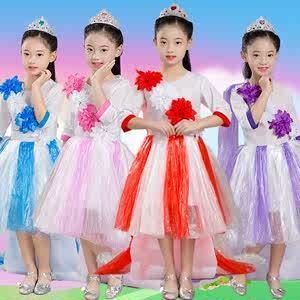 儿童环保演出服diy手工制作衣服亲子时装秀幼儿园自创走秀拖尾裙