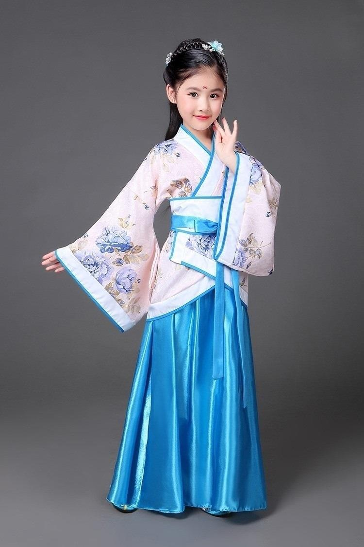 Dress Photo Studio Tang Dynasty Dress Chinese University Girls Hanfu Chinese Style Summer 4-year-old Tangfu