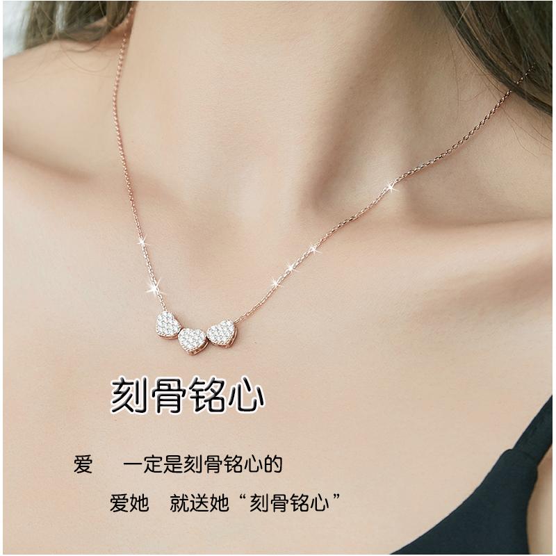 简约新款个性设计锁骨链925纯银项链女送女朋友情人节礼物ins潮酷