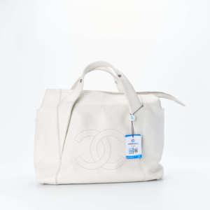 【95新】Chanel/香奈儿白色手提包 32*11*19 公价¥22000