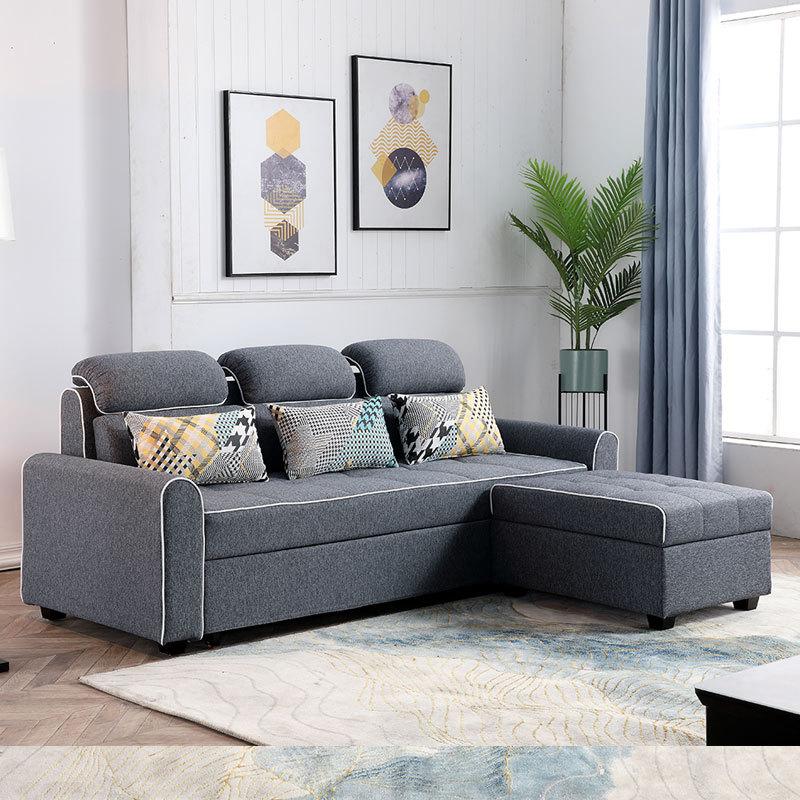 沙发科技三人现代佛山家具小户型可折叠两用沙发床客厅布艺多功能