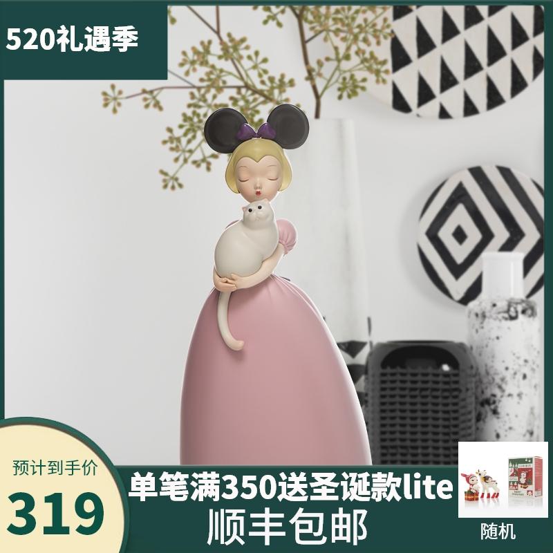净典可米生活贾晓鸥白夜童话薄云的猫创意客厅装饰摆件雕塑艺术品