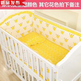 疯抢五件套护围棉围栏软包婴儿床床垫加床围四季t婴童床品套件新图片